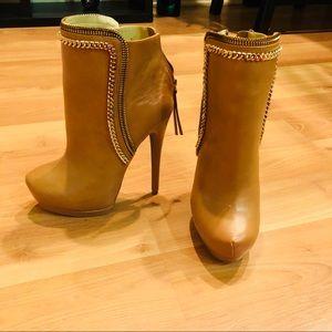 Brown/tan Bebe High heel booties